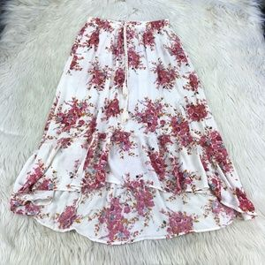 O'Neill Floral Pull On Midi Skirt